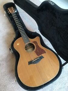 Rare 2002 TAYLOR 714CECedar Rosewood 714-CE With Working Stereo Blender Pickup