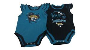 NFL Jacksonville Jaguars Baby Official Infant Girls 2 Piece Creeper Bodysuit NEW