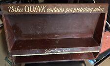 """Parker Quink Ink Advertising Display Metal & Wood 25"""" Wide 16"""" High"""