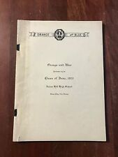 1931 Union Hill High School UHHS Orange and Blue Union City New Jersey Yearbook