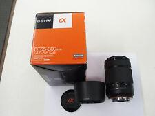 SONY DT 55-300 mm SAM Objektiv für SONY A-Mount Kameras gebraucht  in ovp
