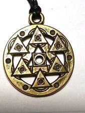 Symbol Квадратура круга Pythagorean sign Brass Charm Talisman Amulet Pendant