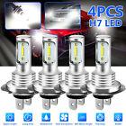 4x H7 Super White CREE LED Headlight Fog DRL Bulbs Kit High Low Beam 6000K White