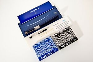 New ,Rare Waterman Serenite Blue Fountain Pen is a special And Numbered.Cartier