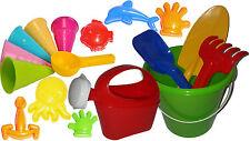 17 teiliges Sandspielzeug Set Sandkasten Set Portionierer, Eimer, Schaufel, uvm.