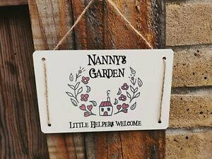 Personalised Nanny's Garden Sign
