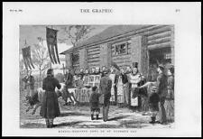 1880 -Antique Print RUSSIA St Georges Day Blessing Cows Priest Cross  (107)