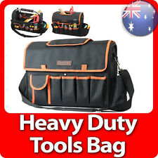 Red Heavy Duty Handyman Tradesman Electrician Tote Carry Steel Handle Tool Bag