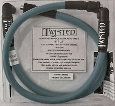 TWISTED 12mm GREY SPARK PLUG WIRES HARLEY ELECTRA GLIDE ROAD KING TOUR 85-98
