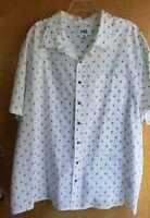 Harbor Bay HB Men's Button Down Collar White w/ Blue Sailboats Shirt Mens sz 3XL