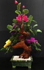 "22"" REAL JADE MIXED BONSAI FLOWER TREE (99-2)"