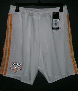 Adidas Adizero Houston Dynamo Authentic Short, White/Orange, Size M