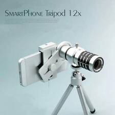 12X Manual Focus Telescope Phone Camera HD Monocular Lens with Telescopic Tripod