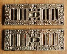 22.9cmx7.6cm LAITON MASSIF OUVERTURE FERMETURE BOUCHE D'AÉRATION VICTORIEN