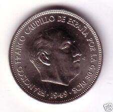 5 Pesetas niquel  FRANCO 1949 estrella 49 calidad S/C