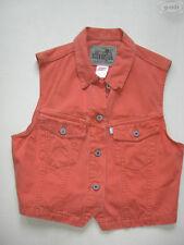 Levi's® Weste Jeansweste, Gr. M, orange, TOP !! Silver Tab Denim, Einzelstück !!