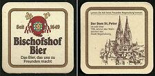 Bierdeckel Brauerei Bischofshof Regensburg, Rückseite: Dom St. Peter