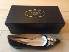 Prada Calzature Pointed Embelished Shoes Size 38 (5) BNIB