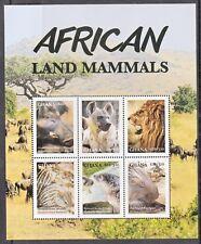 Ghana: African Land Mammals, three unmounted mint miniature sheets, 2016