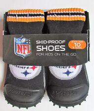 Pittsburgh Steelers NFL Infant Shoes Slipper Socks Sz 10 (3 Years) Non Skid  NWT