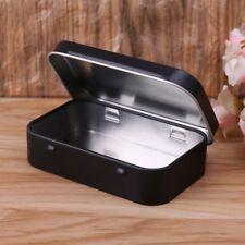 Storage Box Small Jewelry Candy Coin Key Organizer Tin Flip Black Gifts Sealed