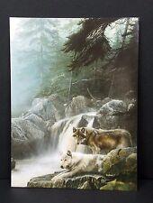 Love Romance Greeting Card Wolf Lonely Vigil Kevin Daniel Art Leanin Tree