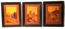 3 Bilder Heinrich Maybach Atelier für Marketerie Karlsruhe  ca. um 1900