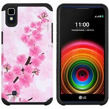 For LG X Power HARD Astronoot Hybrid Rubber Silicone Case Cover + Screen Guard
