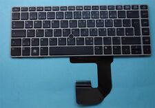 Tastatur f. HP Compaq EliteBook 8460P 8470p 8470w 6460B silber Rahmen Keyboard