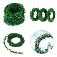 7.5mArtificial Garland Foliage Green Leaves Simulated Vine Wedding Xmas Decor UK