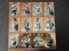 2016  SELECT  FOOTY  STARS  AFL  CARDS  EXCEL  PARALLEL  GWS  GIANTS  TEAM  SET
