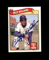 Billy Williams Signed 1989 Swell Baseball Greats Chicago Cubs Autograph