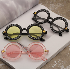 Unisex Ladies Oversized Vintage Round Sunglasses Retro Glasses Shades Hot Sell