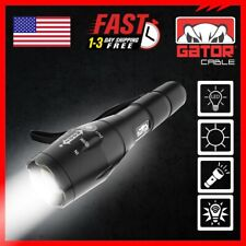 LED Flashlight Super Bright Light Lamp Tactical Military Zoom 5 Modes 10000 Lux