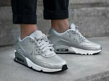 Nike Air Max ® 90 SE GS Ultra Silver Leather Trainers Size 4 UK Mens Womens Sale
