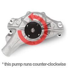 Edelbrock 8881 Mechincal Water Pump SB Chevy - Reverse, in Satin Finish (Long)