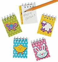 Pack of 12 - Mini Easter Spiral Notepads - Party Loot Bag Fillers