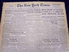 1947 MAY 13 NEW YORK TIMES - BROAD INQUIRY ON PALESTINE IS VOTED IN U. N - NT 87