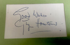 Actor Glyn Houston Signed Card