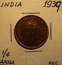 India 1/4 Anna 1939 Unc