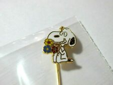 SNOOPY PEANUTS CHARLIE BROWN AVIVA VINTAGE STICK PIN FIGURE JEWELRY 1975