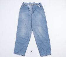 Vintage 80s Streetwear Mens 34x32 Distressed Faded Loose Fit Straight Leg Jeans