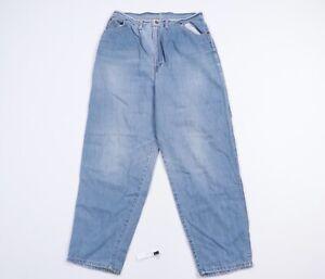 Vintage 80s Streetwear Mens 34x32 Loose Fit Straight Leg Distressed Denim Jeans
