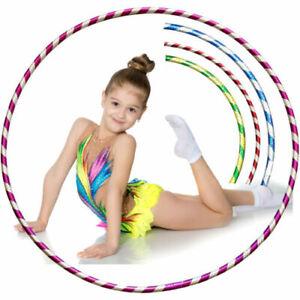 Multicolour Hula Hoops Kids Exercise Children Glitter Plastic Hoola Hoop 45 CM