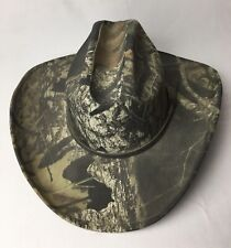 Camo Cowboy Double S Comfort Collection Western Hat Size 7 (56) Camouflage Euc!
