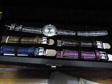 Invicta Angel Morning Star Quartz 5pc silvertone leather watch set Model# 15083