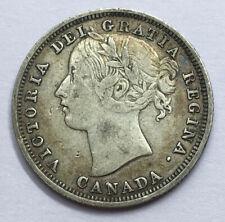 Canada 1858 Victoria 20 Cents Scarce Antique Silver Coin #14