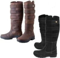 Rhinegold Colorado Country Boots Yard Boots  Leather Adult Size Long Boots