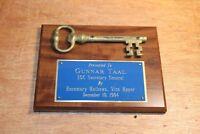 Vtg 1994 Key To The City Monroe GA Vice Mayor Rosemary Mathews to Gunnar Taal