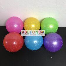 "New 120x Knobby Bouncy 5"" Balls w/PUMP Spike Massage Party PINATA STUFF"